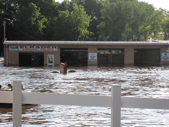 2008 Flood -  Fire EMS Building
