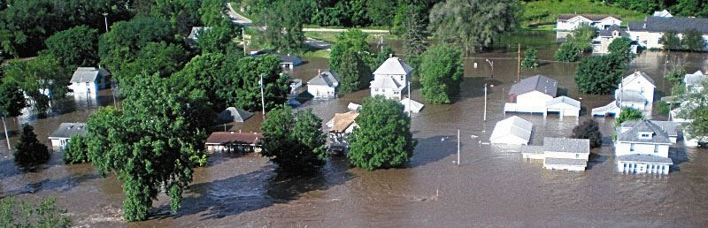 2008 Flood - Homes Aerial